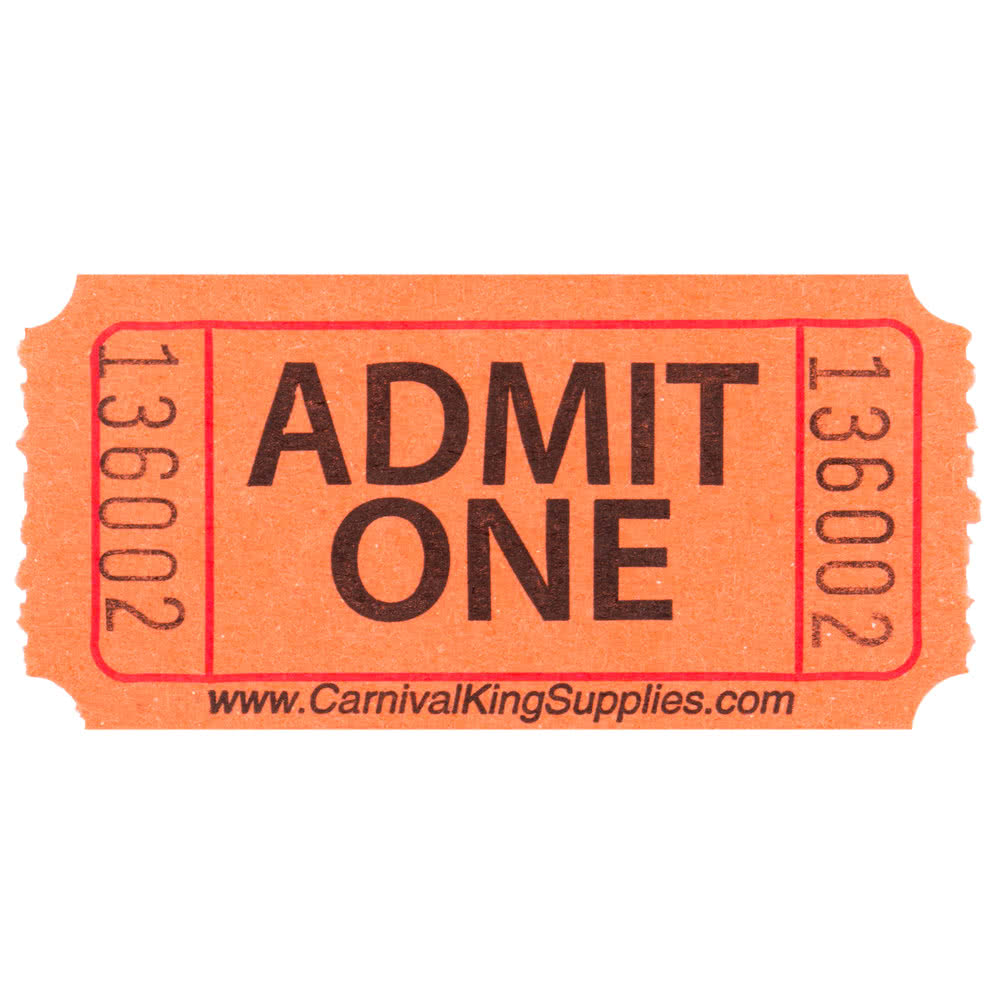 1000x1000 Orange Raffle Tickets Orange Admit One Tickets