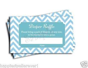 300x232 50 Blue Chevron Diaper Raffle Tickets Baby Shower Game Lottery Boy