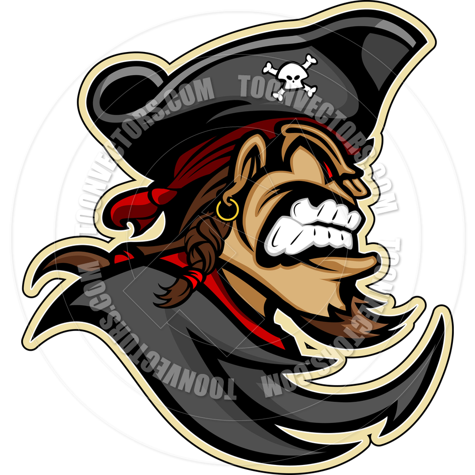 940x940 Cartoon Pirate Captain Raider Mascot Head Vector Image By Chromaco