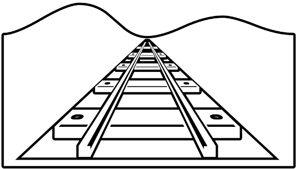 600x341 Train Tracks Clip Art