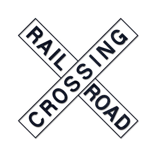 600x600 Railway Station Clipart Railroad Crossing Sign