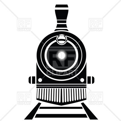 400x400 Silhouette Of Old Locomotive On Railroad