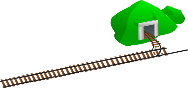 600x281 Train Tracks Clip Art