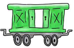 300x194 Train Engine And Caboose Clipart Clip Art Library