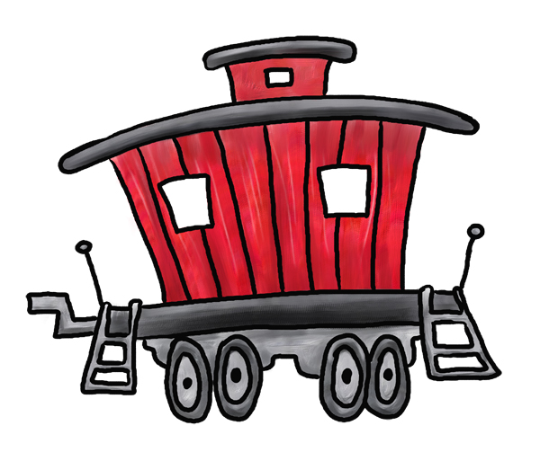 600x513 Free Caboose Clipart Image