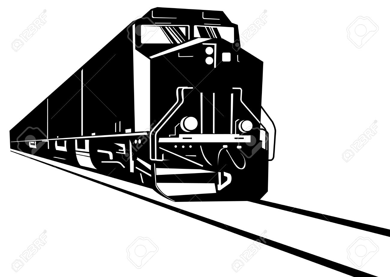 1300x922 Railroad Clipart Diesel Locomotive