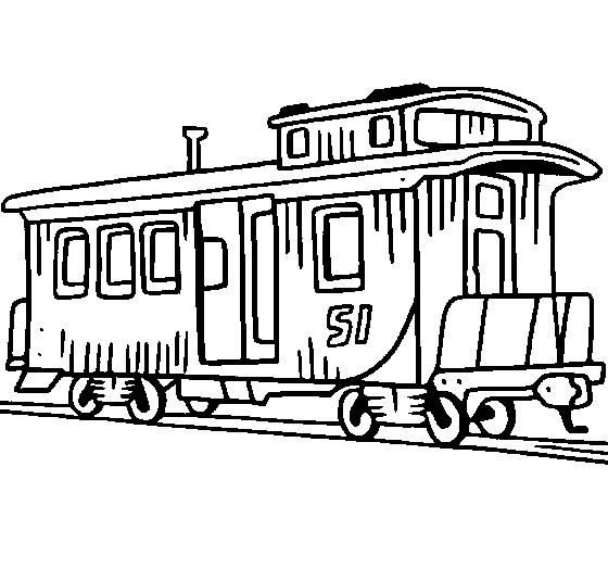 560x535 Railroad Clipart Train Caboose