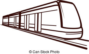 300x184 Modern Train Clipart