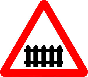 300x263 Rail Roadsigns Clip Art