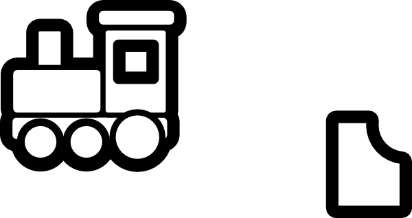 600x318 Railroad Outline Clipart