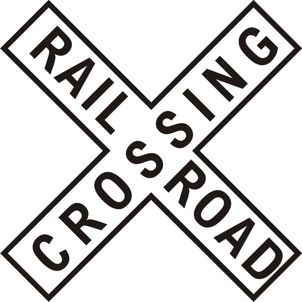 1000x1000 Train Crossing Sign Clip Art