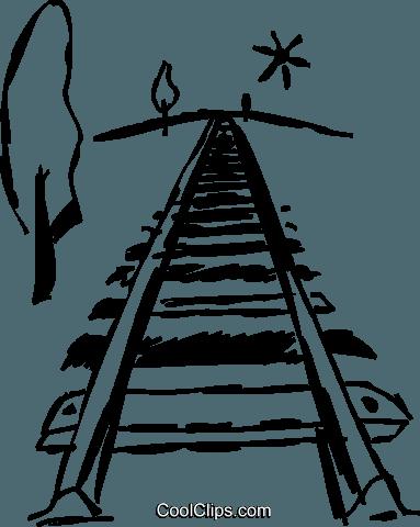 383x480 Train Tracks Royalty Free Vector Clip Art Illustration Vc069526