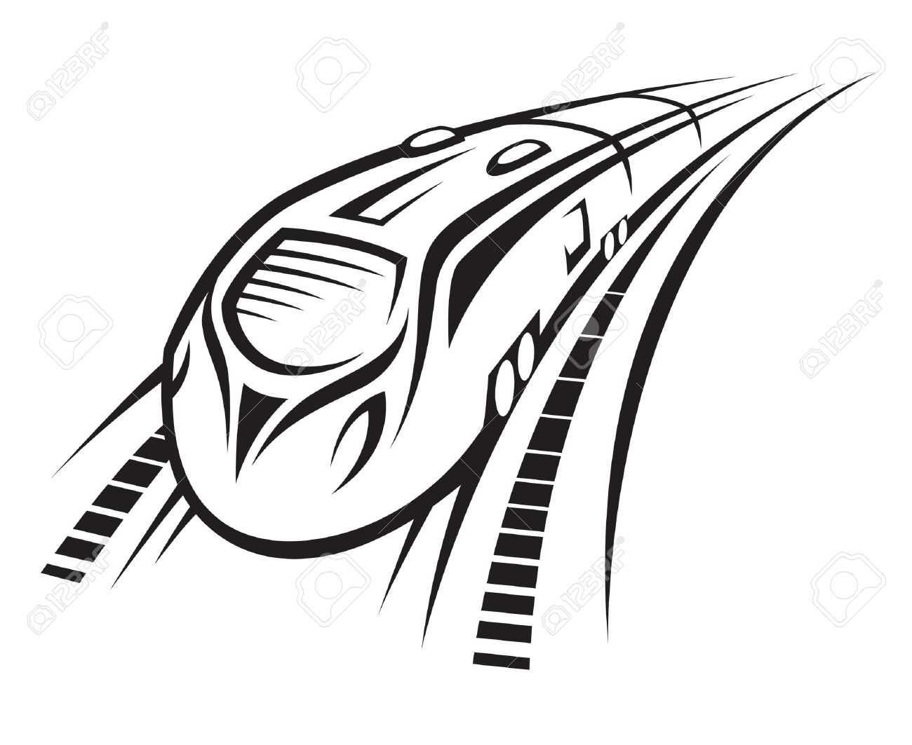 1300x1063 Drawn Train Railway Line