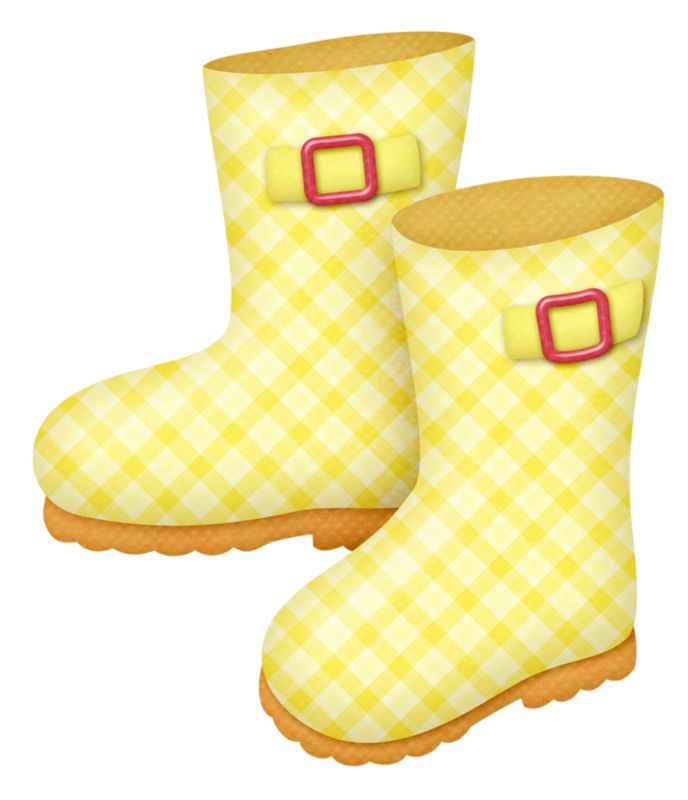 688x800 Boots Clipart Rainy Season Clothes