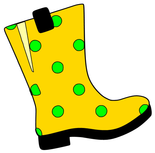 529x520 Rain Boot Clipart