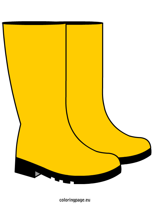 595x804 Rain Boots Coloring Page Clipart
