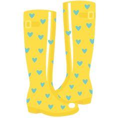 236x236 Rainy Boots Clipart