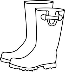 250x280 Boots Clipart Rainy