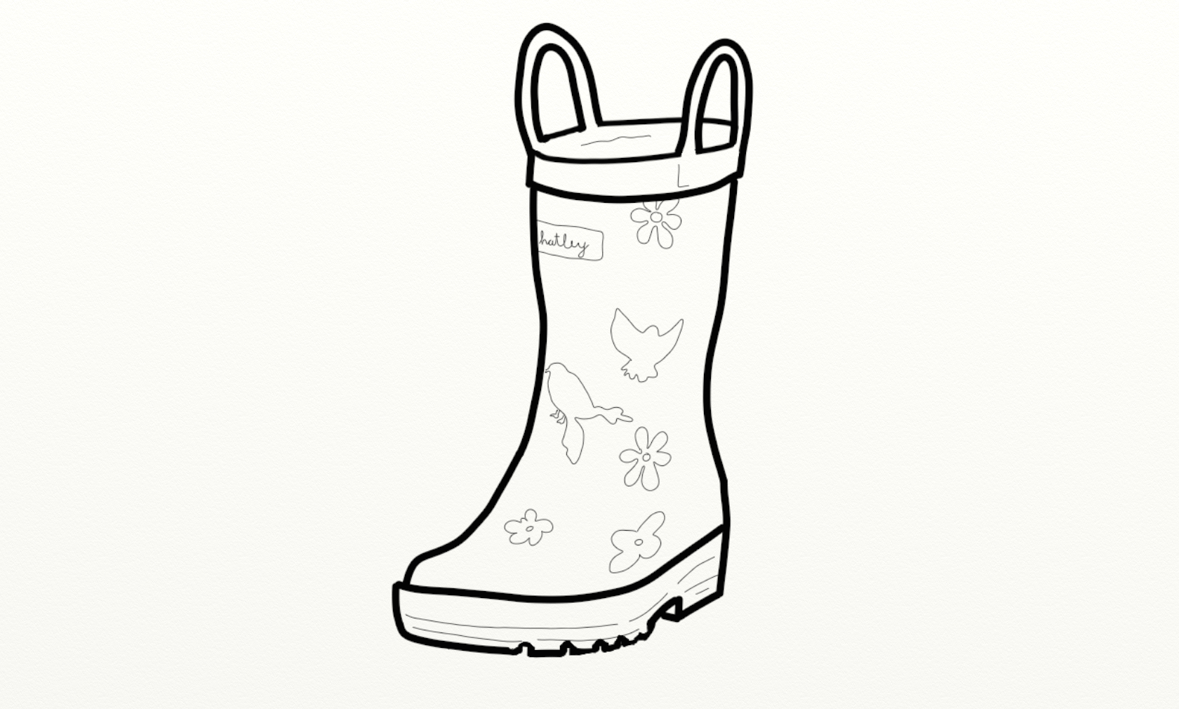 1680x1010 Rain Boots The Boot Kidz Girl'Wellington Boots Girl'Wellies Clip