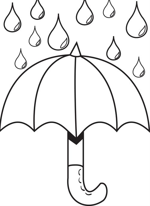 501x685 Rain Clipart Colouring Page