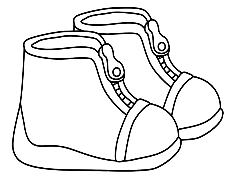 800x625 20 Best Winter Coloring Page Images Snow Boot