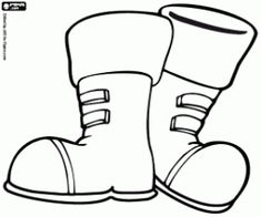 235x196 Winter Boot Santa Coloring Page Winter Coloring Page