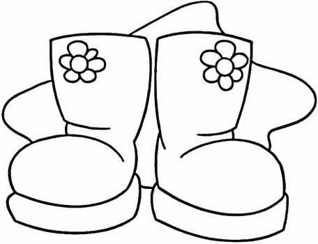 456x350 Boots Coloring Pages