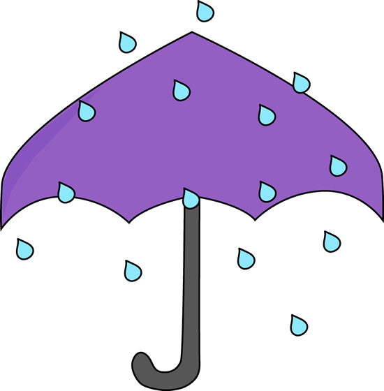 550x560 Clipart Umbrella Rain