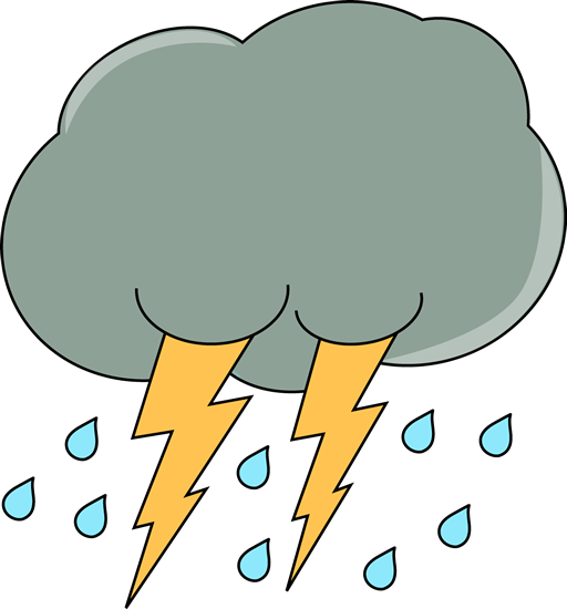 512x550 Dark Cloud With Rain And Lightning. Weather Clip Art