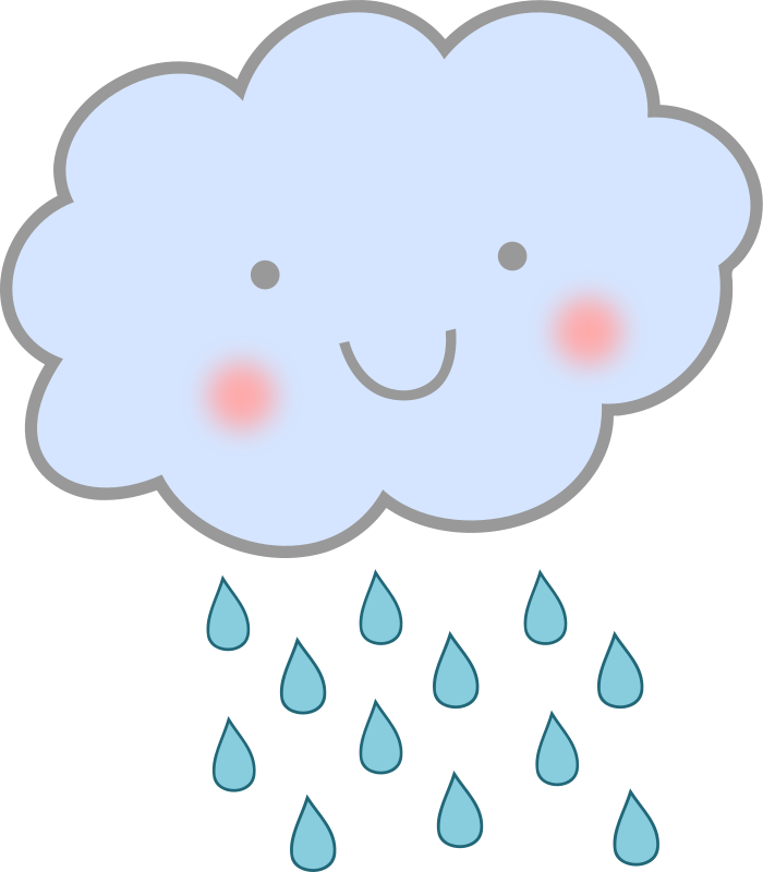 700x800 Free Cute Cartoon Rain Cloud Clip Art