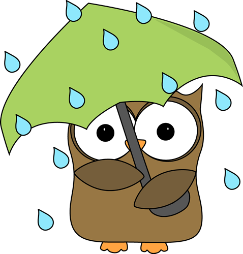 478x500 Owl In The Rain Clip Art