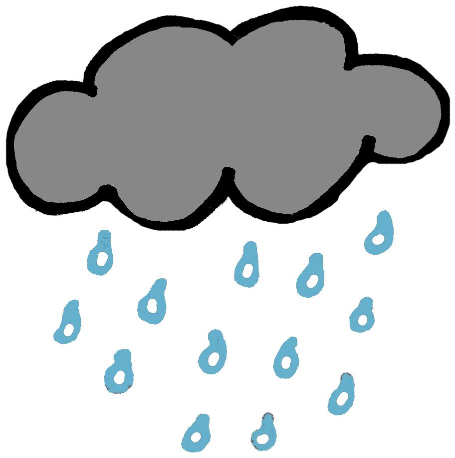 912x917 Rain Clip Art