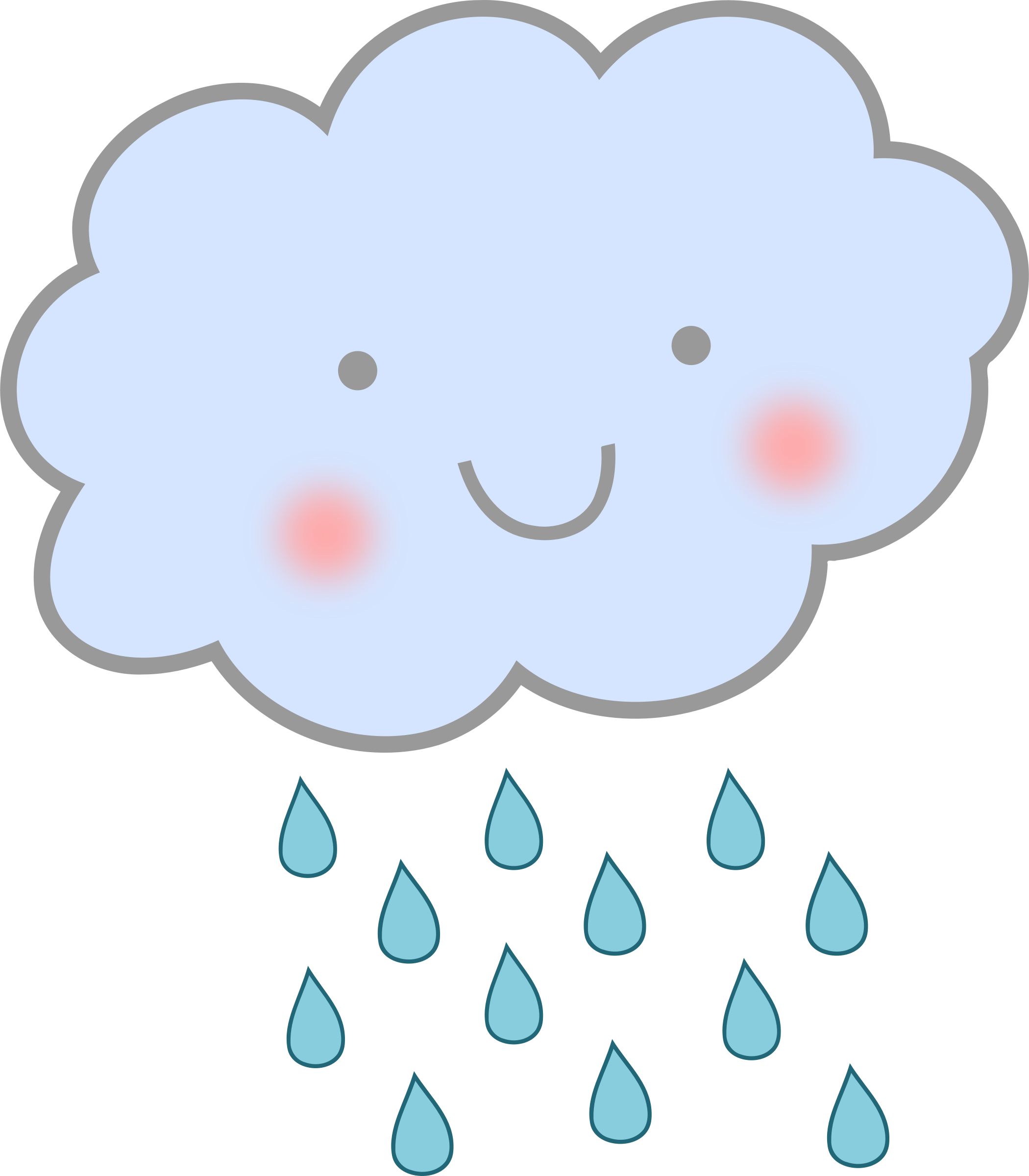 2100x2400 Rain Cloud Clipart