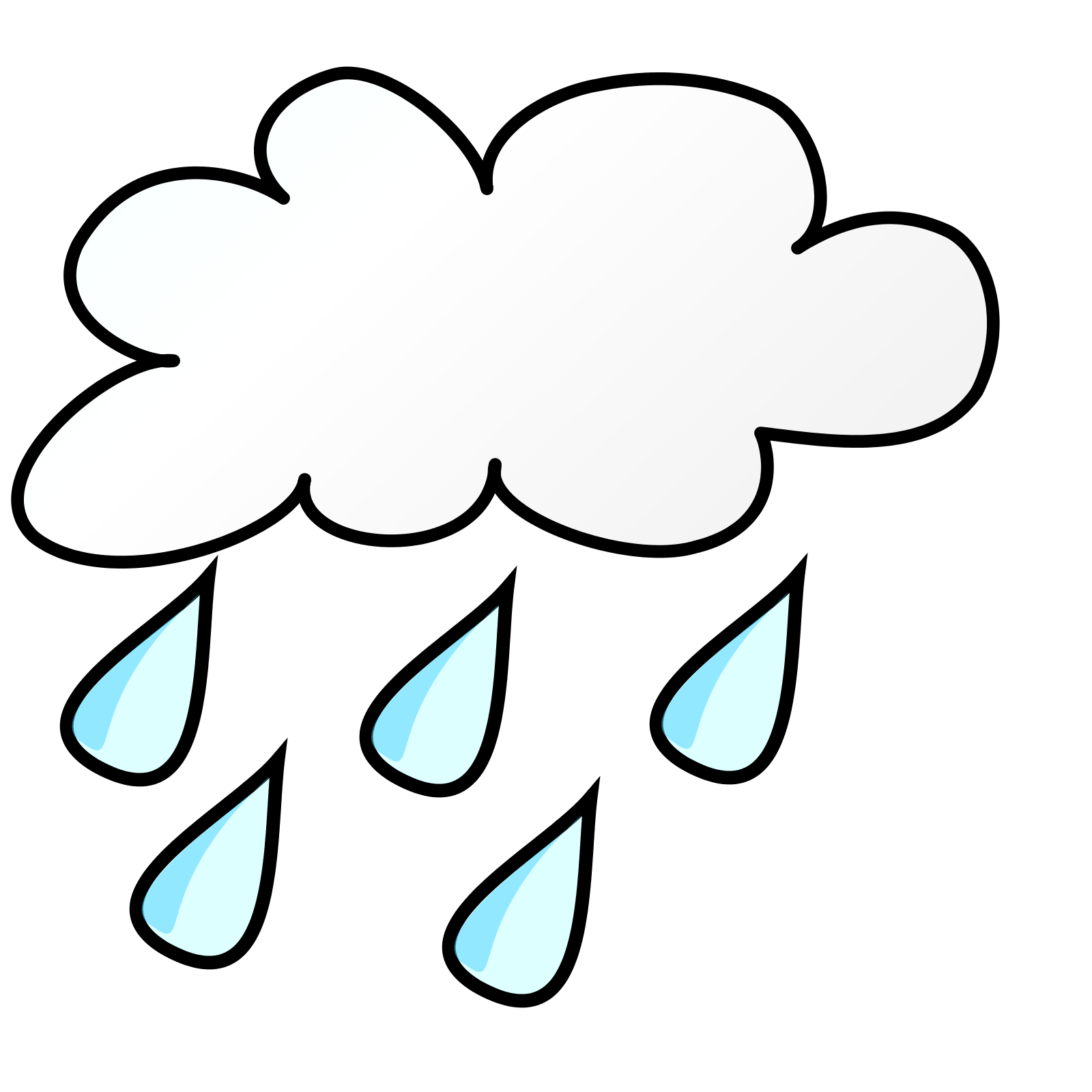 1600x1600 Rainy Cartoon Clipart