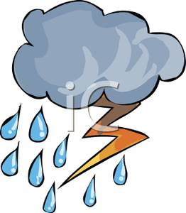 262x300 Clip Art Of Rain And Lightning Clipart