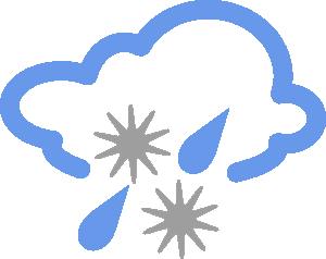 300x238 Hail And Rain Weather Symbol Clip Art Free Vector 4vector