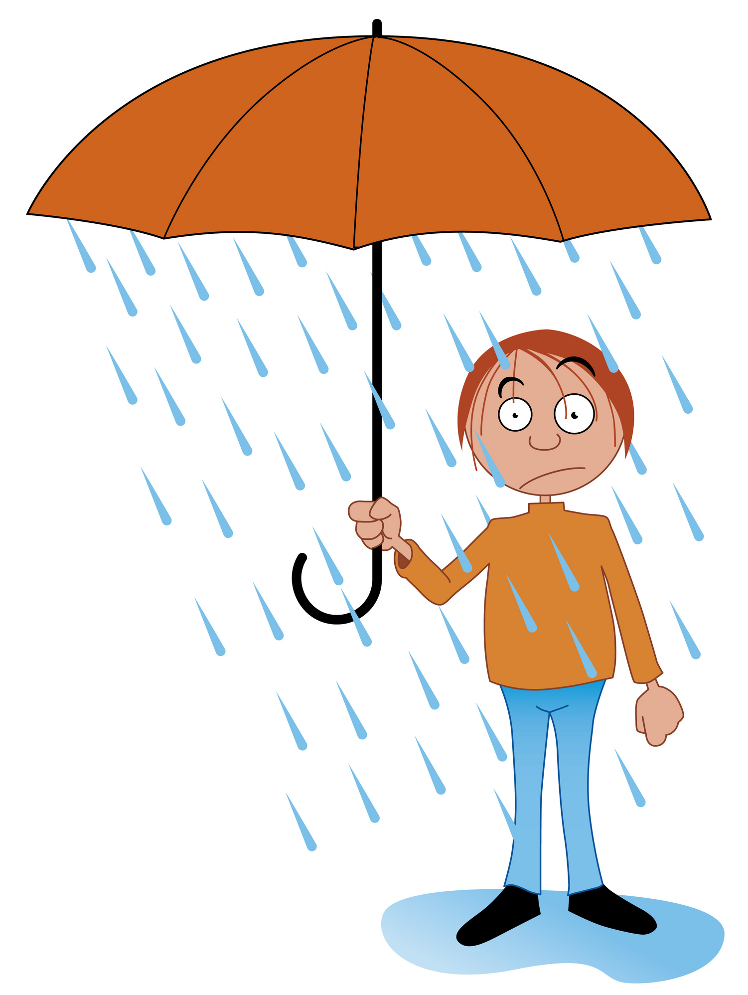 1501x1996 In the rain clipart