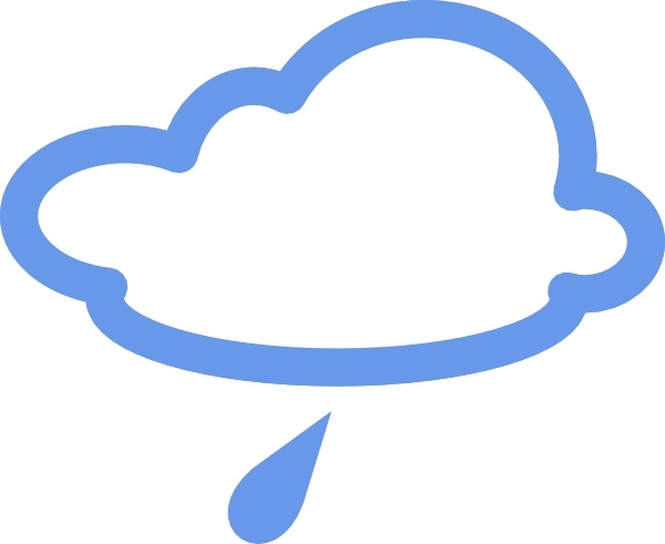 600x491 Light Rain Weather Symbols Clip Art Free Vector In Open Office