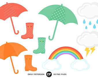 340x270 Rain Clip Art Etsy
