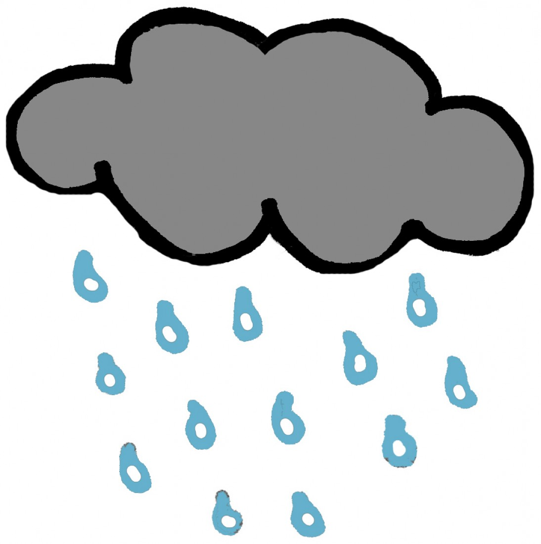 1094x1100 Rainy Black And White Clipart