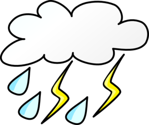 300x252 Cloud With Rain And Lightening Clip Art