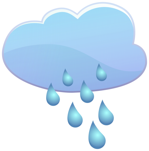 493x500 Cloud and Rain Drops Weather Icon PNG Clip Art