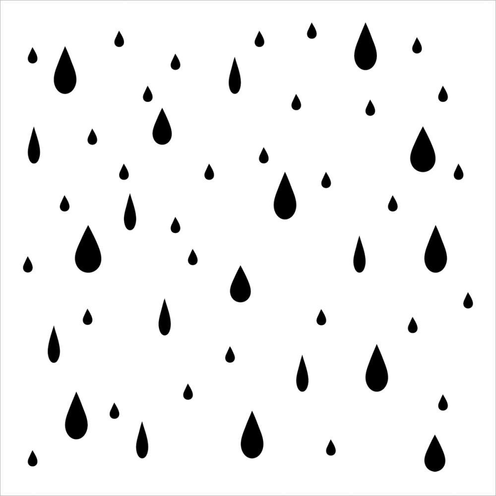 Rain Clipart Black And White