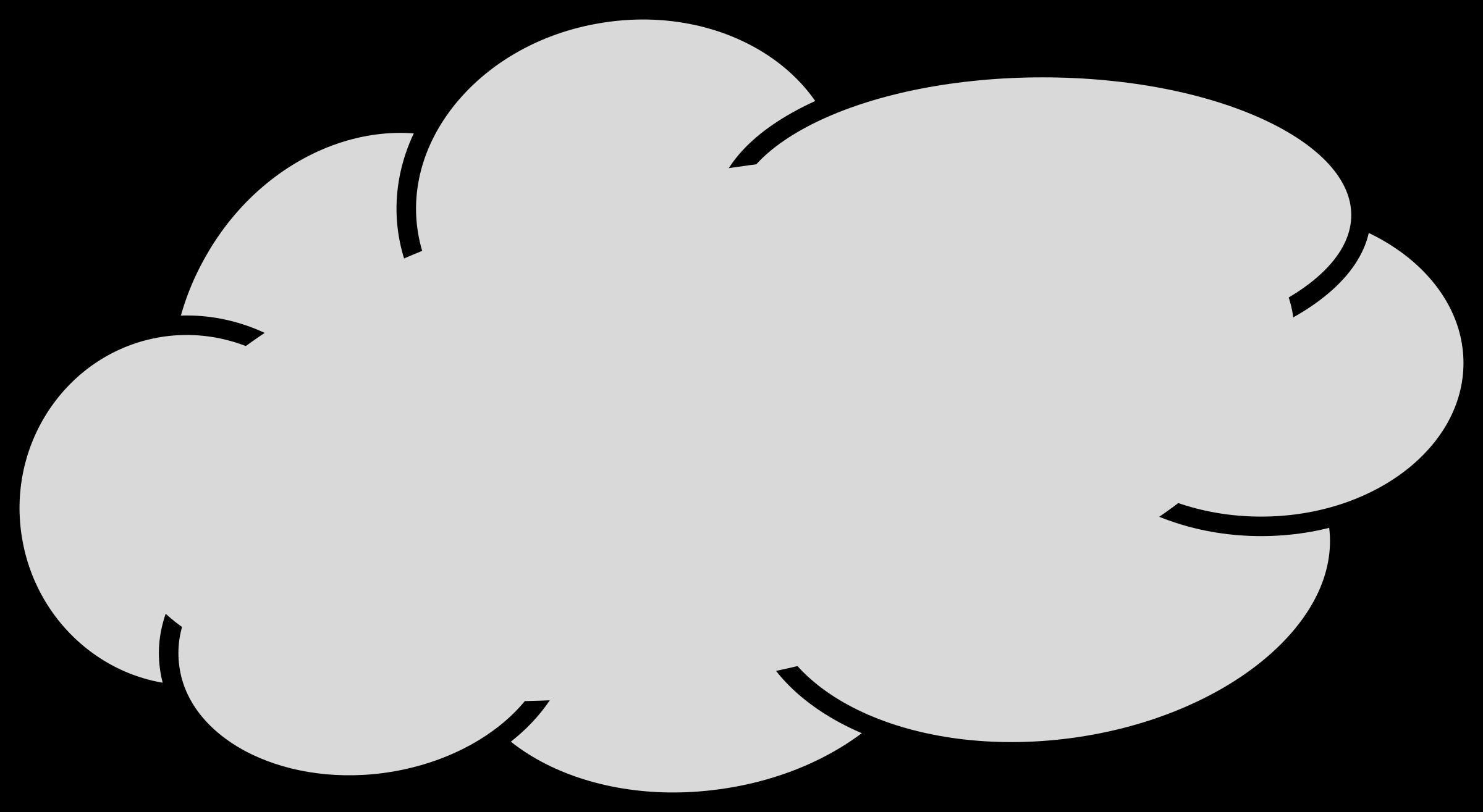2400x1315 Rain Cloud Free Clip Art Of Cloud Clipart Black And White 4 Grey