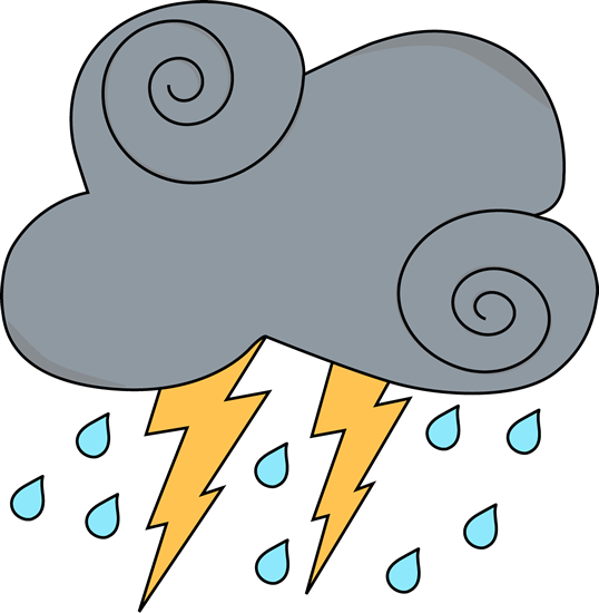 538x550 Clip Art Of Rain And Lightning Clipart