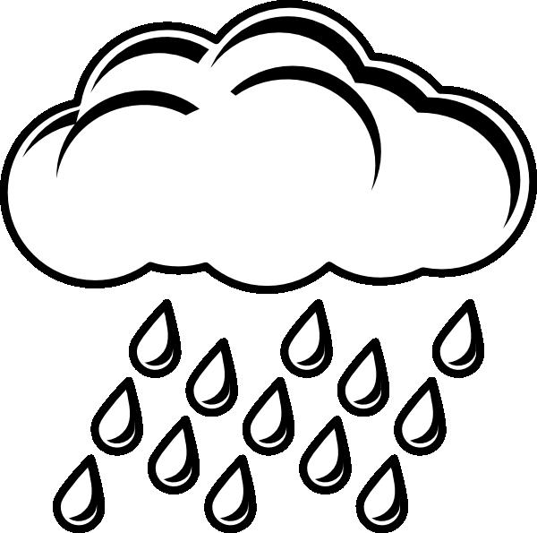 600x595 Raincloud Bw Clip Art