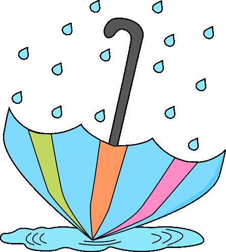 447x500 Umbrella In A Rain Puddle Clip Clipart Panda