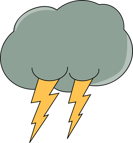 512x550 Dark Lightning Cloud Clip Art