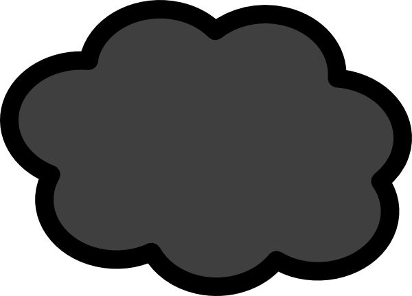 600x431 Dark Storm Cloud Clip Art