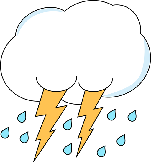 512x550 Lightning And Rain Cloud Clip Art